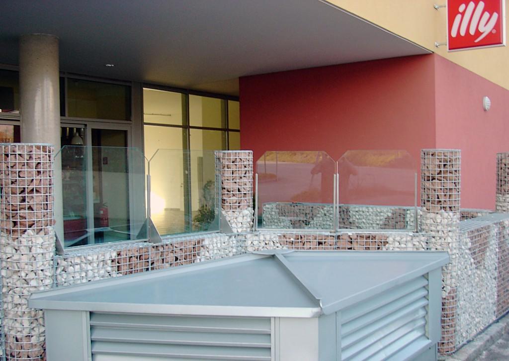 Windschutzanlage bei Gastgärten