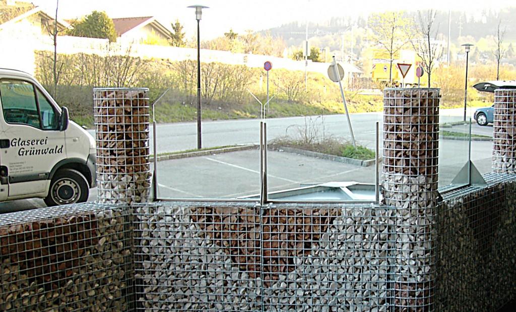 windschutzglas bei gastgarten